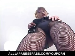 orny japanese av model strips out of her excited
