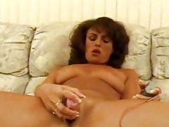 aged chick toying hairy cum-hole