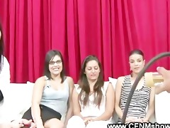 cfnm ladies watch the model receive wanked