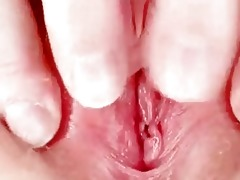 unsightly redhead mommy toys her hirsute vagina