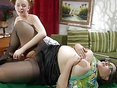 youthful and older brunette hair lezzie fingering