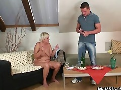 excited granny seduces son in law