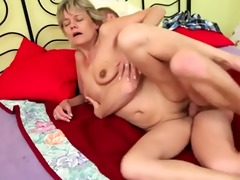 golden-haired mamma fuck man