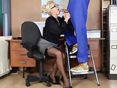 office mother i lana cox wanks off her handymans
