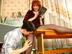 older teaches her student russian cumshots gulp