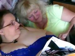 bulky granny and old granny masturbating