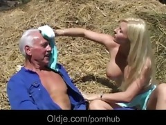 old farmer joe copulates hard a breasty juvenile