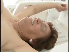 granny poolside fuck - older porn tube movie