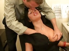 enormous chested mother i brunette hair takes