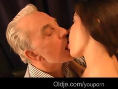 aged man david copulates lustful anita