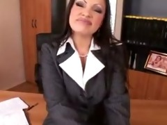 aria giovanni strips out of nylons p10