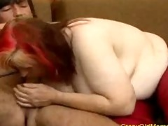 eager old mommy gets large jock fellatio and wet