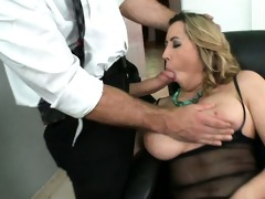 kat receives her large natural mambos screwed by