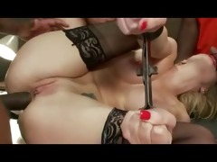 blonde older bareback group-sex with biggest