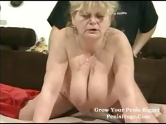 chubby granny with toys then a real penis