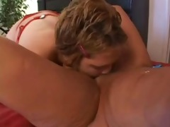 fat juvenile honey and older licking and toying