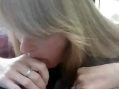 sexy milf blows and acquires a mouthful