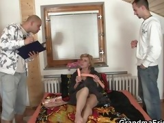 lonely granny gives her vagina