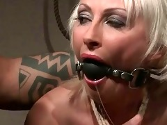 older blond acquires punished and anal screwed
