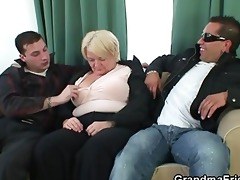 buddies group-sex drunk old wench