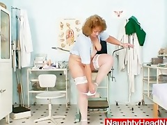 obese old nurse mom receives naughty in gyn clinic