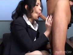 chinami sakai japanese secretary gives a sexy