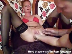 fist fucking the wifes giant muff untill she is