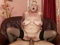 breasty plump grandma enjoys admirable fucking