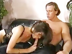 british babe teaches german stud trio hospitality