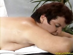 avid old mommy receives drilled hard