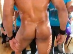 big muscley bouncers let us angels engulf them