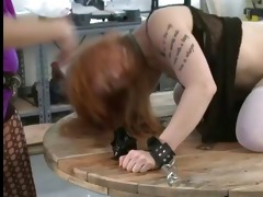 hawt domme beats her sexually excited little