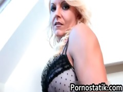 blonde mother i doxy acquires a large cock in her