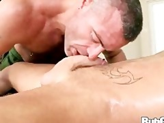 rubgay hard shlong massage