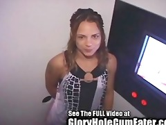 hot latin chick unfathomable face holes in the gap