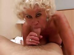 lewd granny in hard pov action