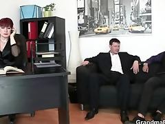sexy business lady takes ramrods