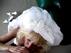 milf bride oral-job and facial.