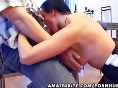 aged dilettante wife sucks and copulates with