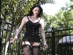 bizarre mistress femdom way-out outdoor balls