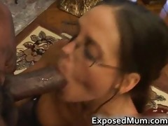 sexy mother i in glasses deepthroating darksome