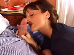 concupiscent housewife double screwed by two