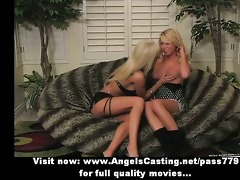 pretty enchanting blonde lesbo sweethearts with