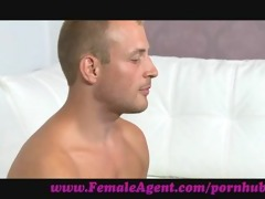 femaleagent. nervous chap caught in agents web