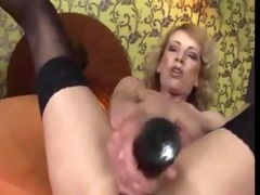 granny masturbates then acquires fisted by a hawt