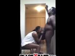 black hubby acquires slow oral-stimulation
