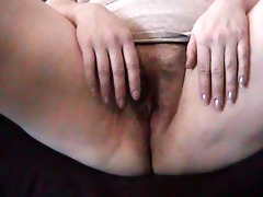 wife rubs one out