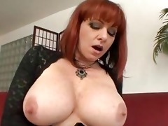 breasty older redhead acquires hard boner up her