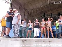 biggest titty contest at iowa biker rally