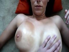filming wifes oiled bra buddies